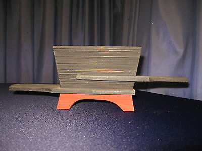 Vintage Mid Century Modern Atomic Striated Combed Wood Shadow Box 50s Planter