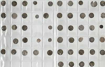 Ottoman Ancient Silver Coins 52 Count Holed And Unholed Turkey Plus Elsewhere?