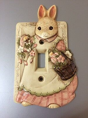 Vintage Takahashi Bunny Rabbit Light Switch Plate Cover