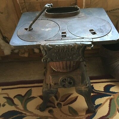 Antique SNAP No. 8 Laundry Pot Belly Wood Stove ~ Excellent