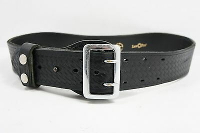 Law Pro Black Leather Sam Brown Duty Belt Size 34 *MADE IN THE USA*