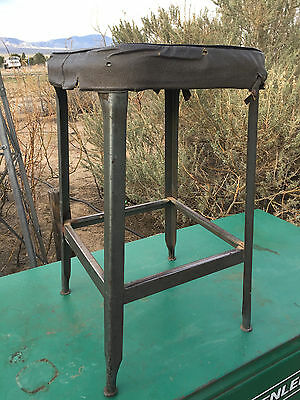 "Vintage Lyon Metal Products Shop Stool 24"" Nice Patina / Wear"