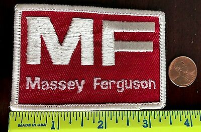 "Vintage*mf*massey Ferguson*embroidered*sew On Patch*3.25""x 2.25"" Red & White"