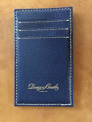 Dooney Bourke Pebble Grain Leather Navy Blue Credit Card Holder -New