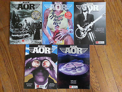 LOT of  Classic Rock Presents: AOR magazine  issues #1, 2, 3, 4, & 5