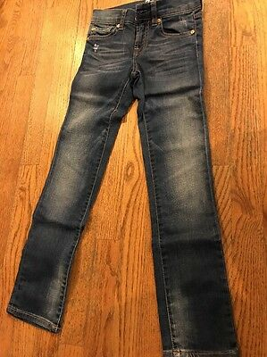 7 for all mankind straight leg Distressed Jeans Size 7