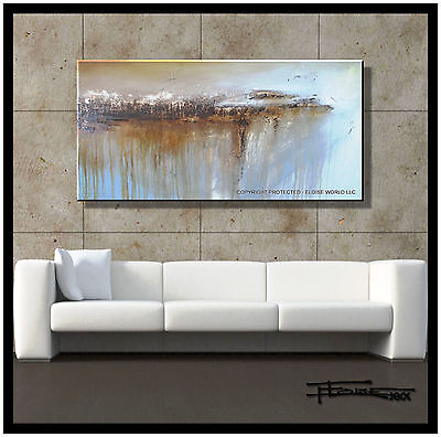 ABSTRACT PAINTING CANVAS WALL ART LARGE 48in. USA Direct from Artist   ELOISExxx