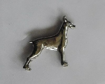 DOBERMAN DOG Mini Silvertone MAGNET Little Gifts NIB Lot D1