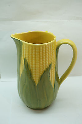 VINTAGE SHAWNEE POTTERY CORN KING PATTERN WATER PITCHER #71 LARGE 8.25in 40 OZ