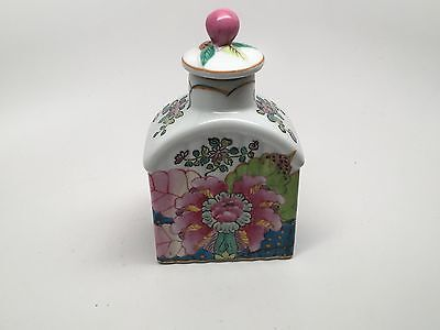 Chinese Porcelain Tea Caddy Marked Hua Rong Tang