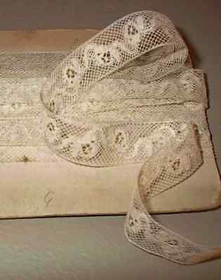 Lot Antique French Valenciennes Insertion Lace Dolls Trim Edging Vintage Sewing