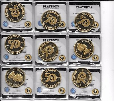 2003 Cook Island Playboy Coin With Orig. Hologram Coa- You Are Buying One Coin