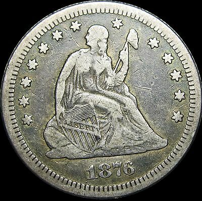 1876-S Seated Liberty Quarter ---- STUNNING TYPE COIN ---- #D332