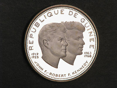 GUINEA 1970 200 Francs Kennedy Brothers Silver Choice Proof