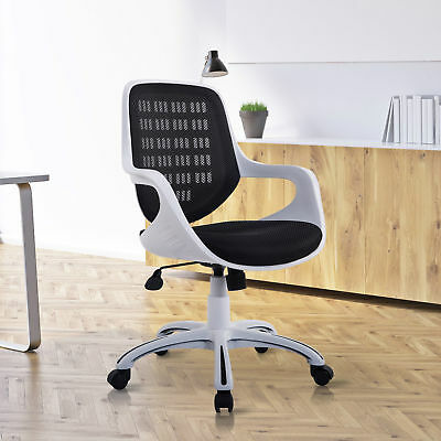 HomCom Adjustable Mid-Back Mesh Office Chair 360° Swivel Computer Chair Home