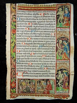 Book Of Hours Leaf Danse Macabre Paris Simon Vostre 1510 Stundenbuch Totentanz