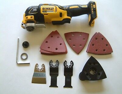 DeWALT DCS355N 18V XR OSCILLATING MULTI TOOL BARE + ACCESSORIES