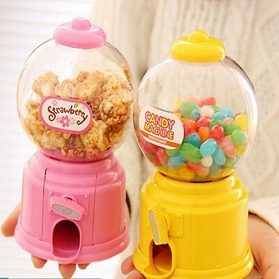 Mini Candy Machine Dispenser Gumball Vending Machine Bank Coin Box Kid Toy