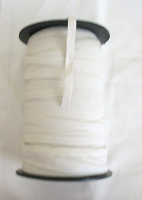 10metres of White Elastic 10mm