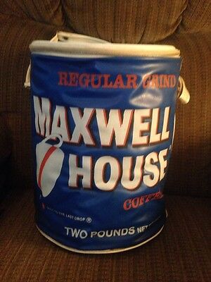 Vintage Maxwell House Coffee Zippered Insulated Cooler Large