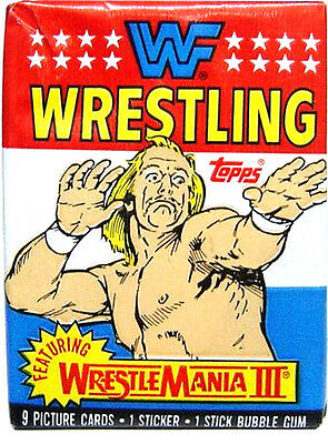 Topps WWF WRESTLEMANIA III Trading Cards Sealed Unopened Wax Pack (1987)