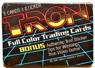 Donruss TRON Sealed Trading Card Vintage Wax Pack (1987)