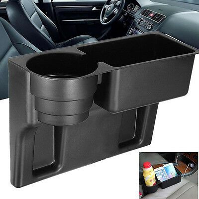 1psc Universal Car Truck Seat Seam Wedge Cup Drink Holder Beverage Mount Stand /