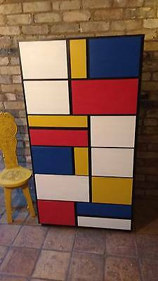 Stunning Modernist Style Mondrian Inspired 12 Drawer Chest of Drawers