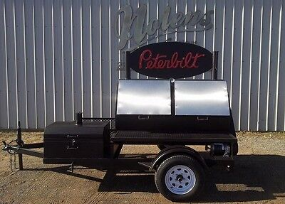 New 36X60 Commercial BBQ Cooker Rotisserie Smoker Grill On Trailer