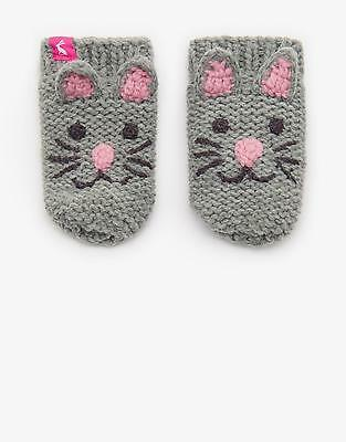 Joules Chum Character Gloves in Cat Size S/M