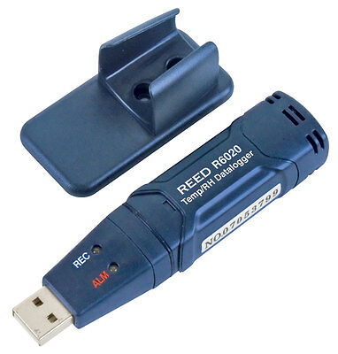 REED R6020 Temperature/Humidity USB Datalogger, -40 to 70°C, 0-100%RH
