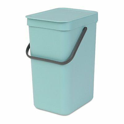 Brabantia, Waste Bin Sort & Go Food Waste Caddy, Plastic 12L, Mint, 109744