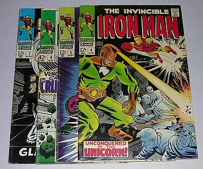 Lot of Iron Man Comics (#'s 4,5,6,7) by Marvel