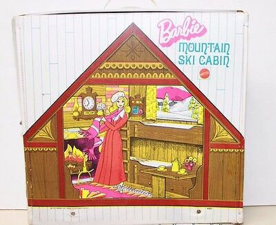 Mattel Barbie Mountain Ski Cabin Carrying Case Vintage 1972 Great Condition