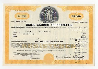 1977 Union Carbide Corporation Stock Certificate