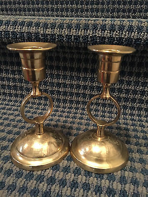 Vintage Candle Sticks (Brass) 40+ Years Old-USED