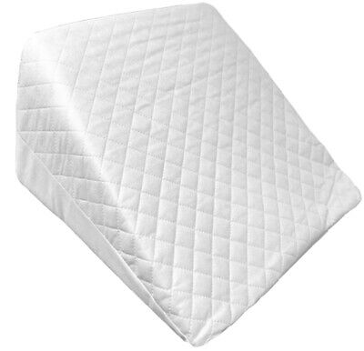 Reclining Quilted Orthopedic Foam Bed Wedge Back Support Aid Reliever Pillow UK