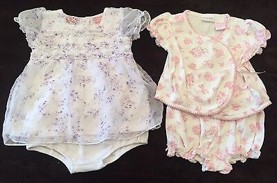 2pc Lot Of Baby Girls Size 3-6 Months