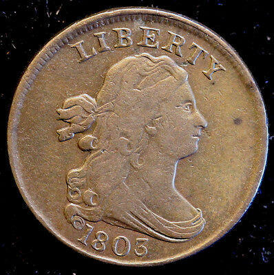 1803 C-4 Draped Bust Half Cent Pretty Coin