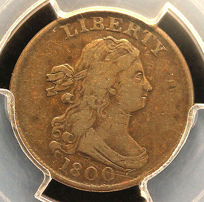 1800 Draped Bust Half Cent PCGS VF30
