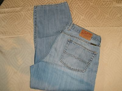 """Lucky Brand Relaxed Straight Jeans Men's Sz 36 -Actual 35"""" X 29"""" -  G3667"""