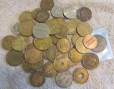 Parking Tokens, Mixed lot of 45
