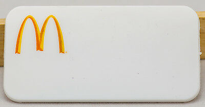McDonald's Employee Promotional Pin - White Smooth Name Tag