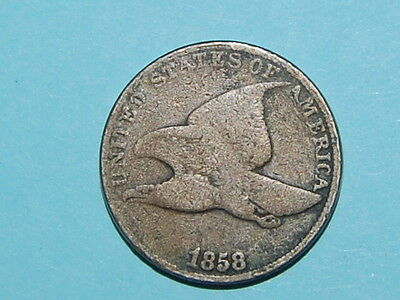 1858 Flying Eagle Cent Penny Nice Coin  (J-754)