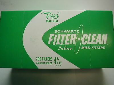 Schwartz Tuffy Milk Filters - 4- 9/ 16 (200)