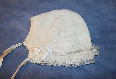 Vintage Infant's bonnet-? hand made-smocked-very nice-EVC!!!