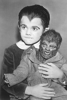 Butch Patrick Holding Wolfman Doll From The Munsters 11x17 Mini Poster