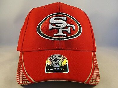 eb7392d7e35759 SAN FRANCISCO 49ERS Logo Adjustable Adult Size Hat 47 MVP Touchback ...