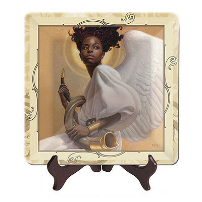 Sound the Horn Glass Display Plate - African American Expressions