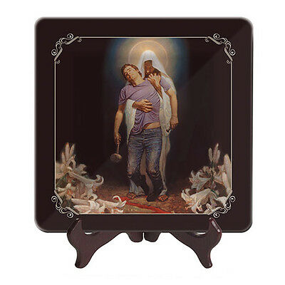 Glass Display Plate - Forgiven - African American Expressions